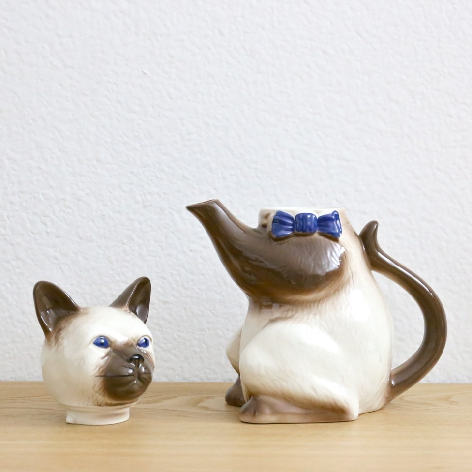 Vintage Cat Pot
