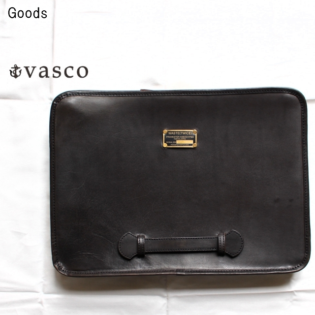vasco レザートラベルクラッチバッグ LEATHER TRAVEL CLUTCH BAG  VSWT-290L (BLACK)