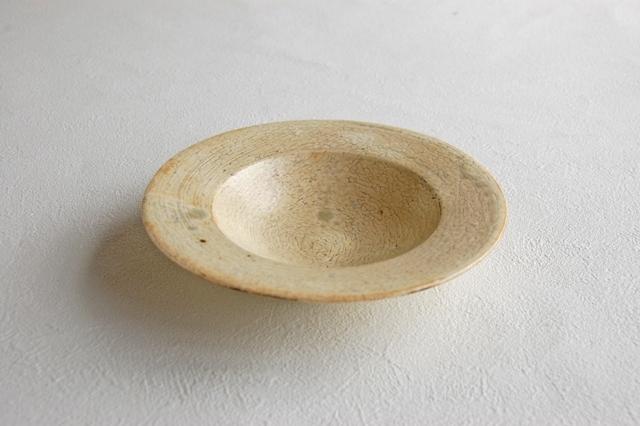 y-1046 貫入粉引 円盤小皿