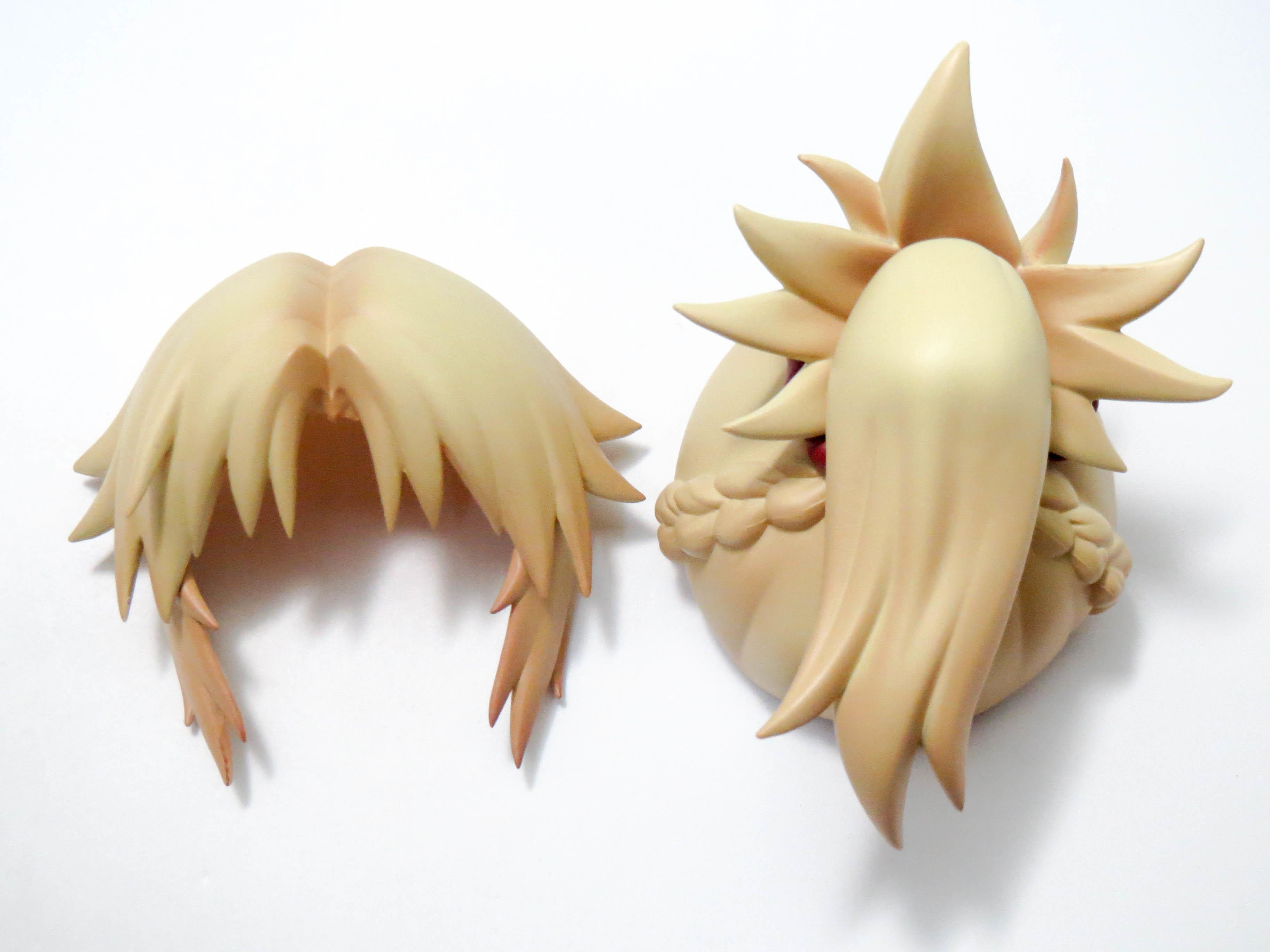 """再入荷【885】 """"赤""""のセイバー 髪パーツ ポニーテール ねんどろいど"""