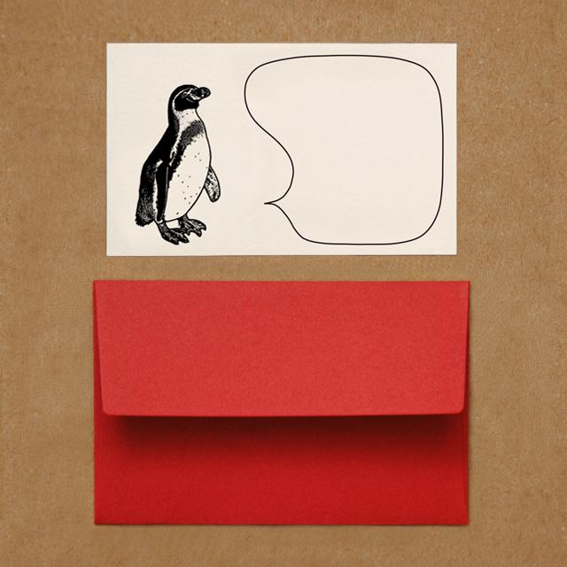 封筒つきメッセージカード(ペンギン)