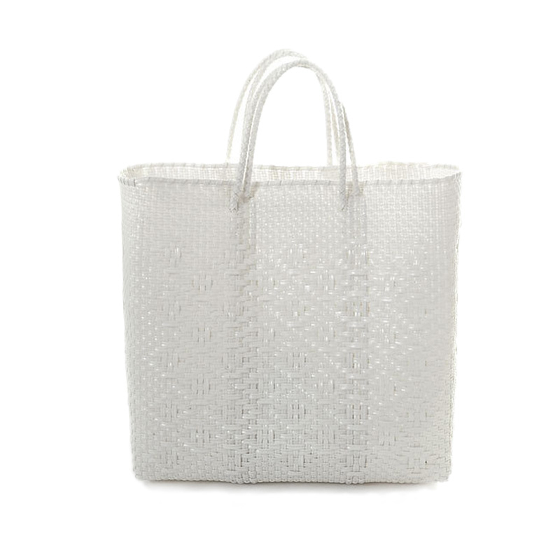 MERCADO BAG ROMBO-White(M)