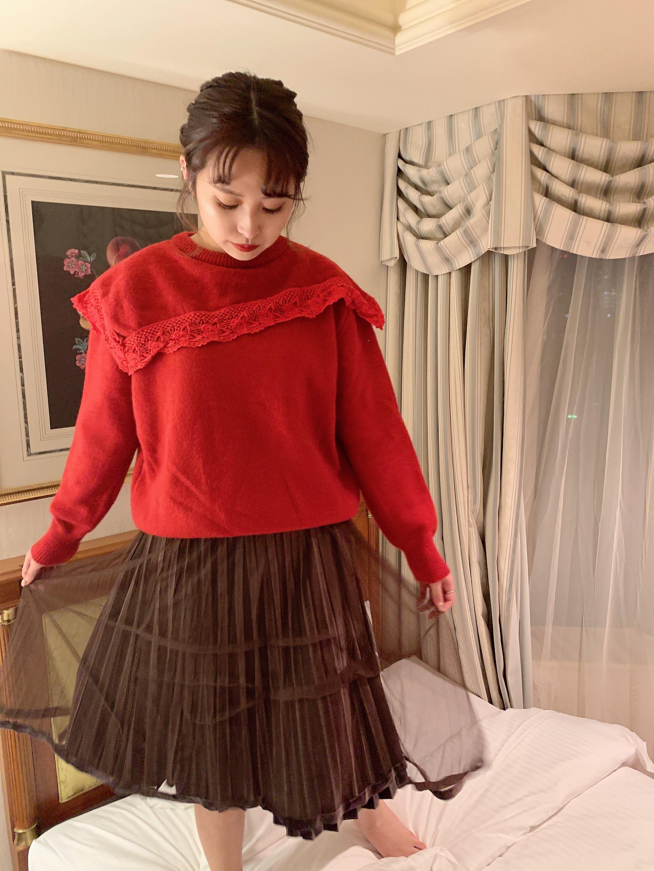 décolleté frill knit