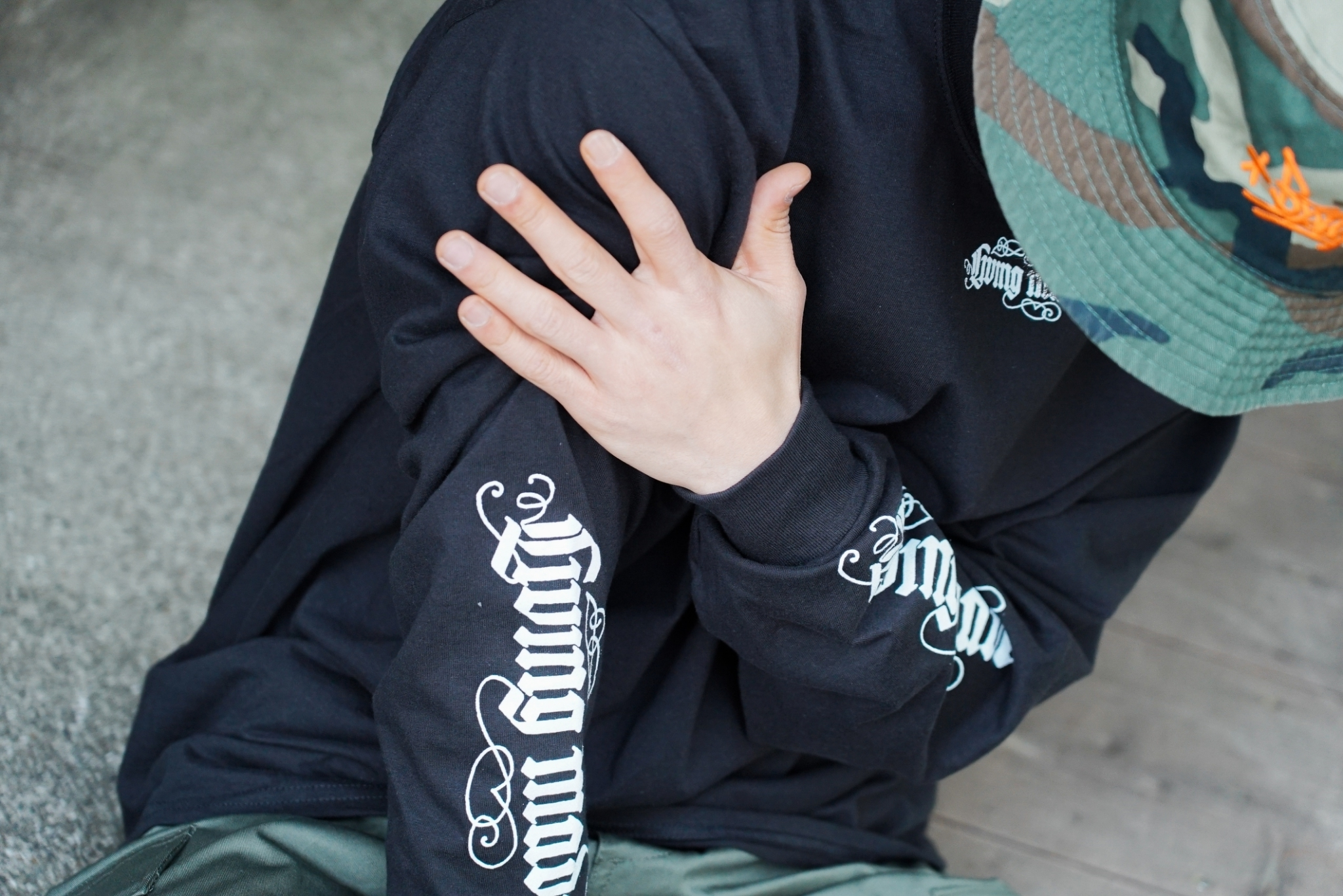 LIVING MADE TATTO L/S TEE [BLACK]