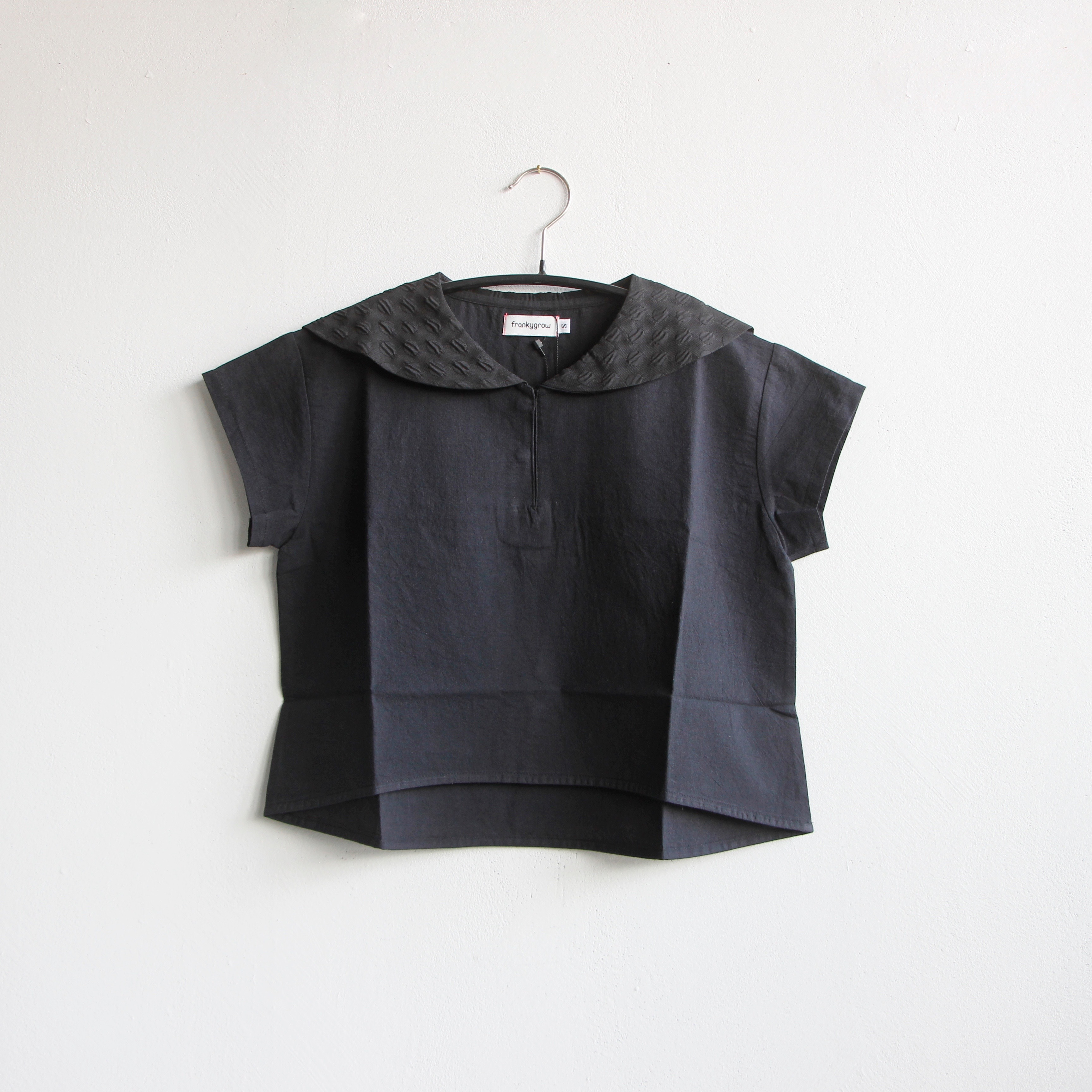 《frankygrow 2020SS》SAILOR COLLAR TP DYED /black / S・M・L
