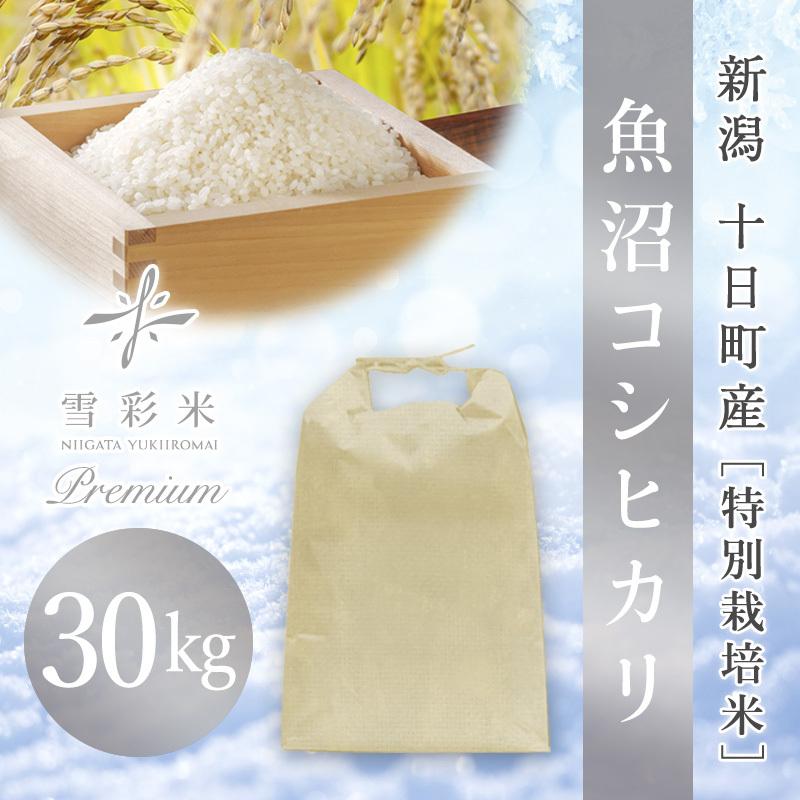 【雪彩米Premium】十日町産 特別栽培米 令和2年産 魚沼コシヒカリ 30kg
