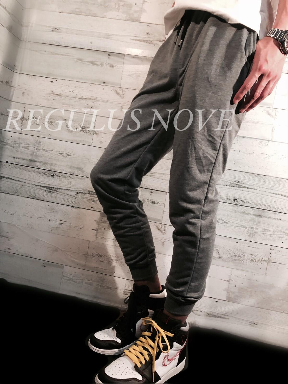 REGULUS NOVE ミニ裏毛ジョガーパンツ CHARCOAL スウェット ルームウェア スポーツウェア 運動着 トレンド パンツ ボトム ジョガーパンツ
