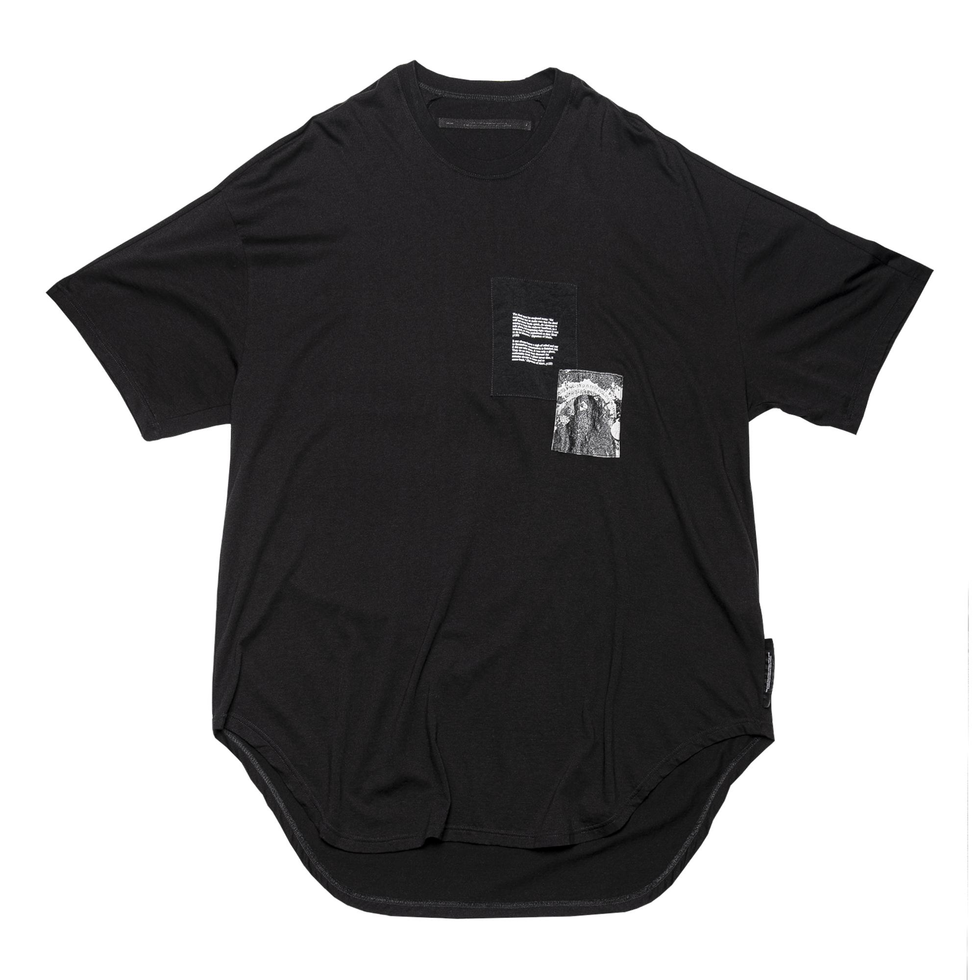 687CPM1-BLACK / パッチプリント OS Tシャツ