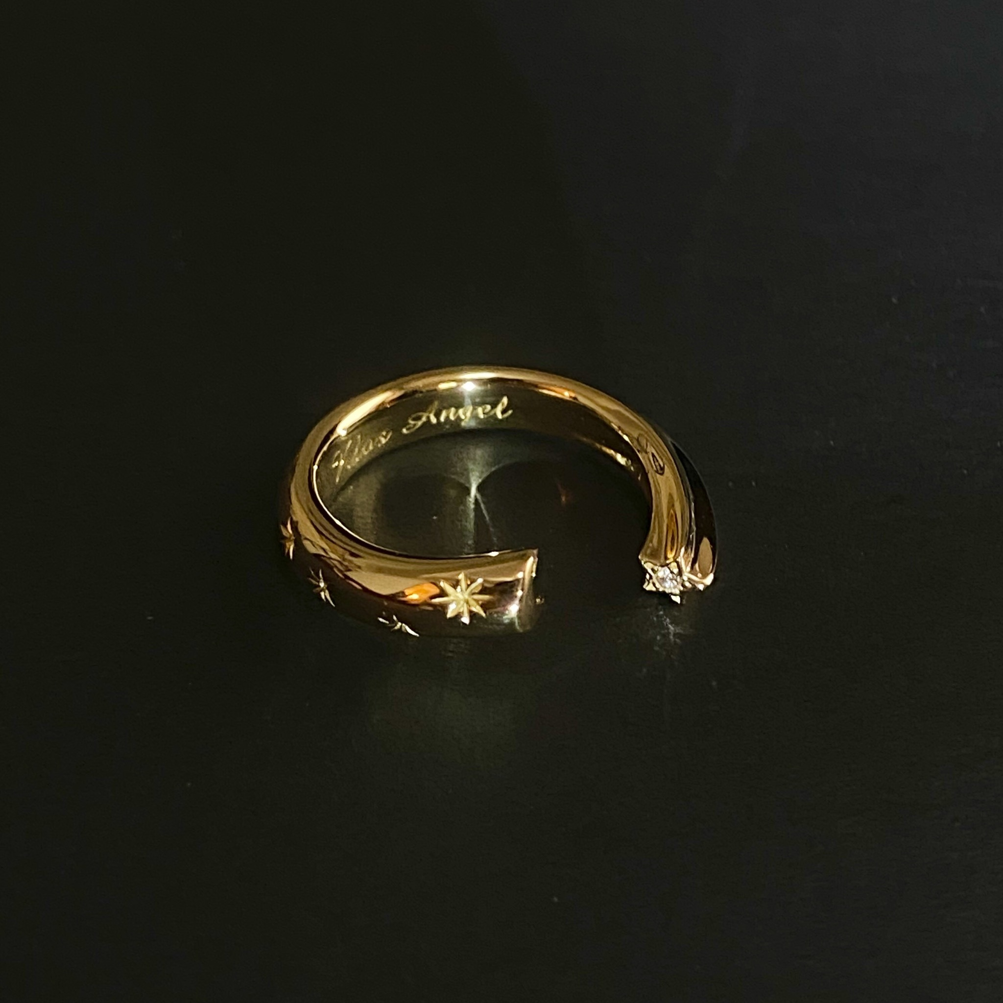 K18 Moon&Stars Ring
