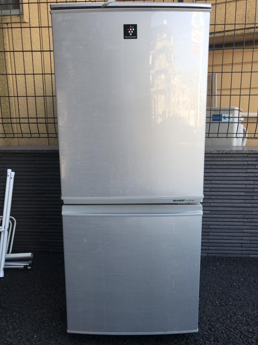 137L 2ドア冷蔵庫 シャープ SJ-PD14W-S 2012年製