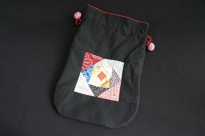 着物、和服の古布ファッション小物「和ポーチ」 - 画像1