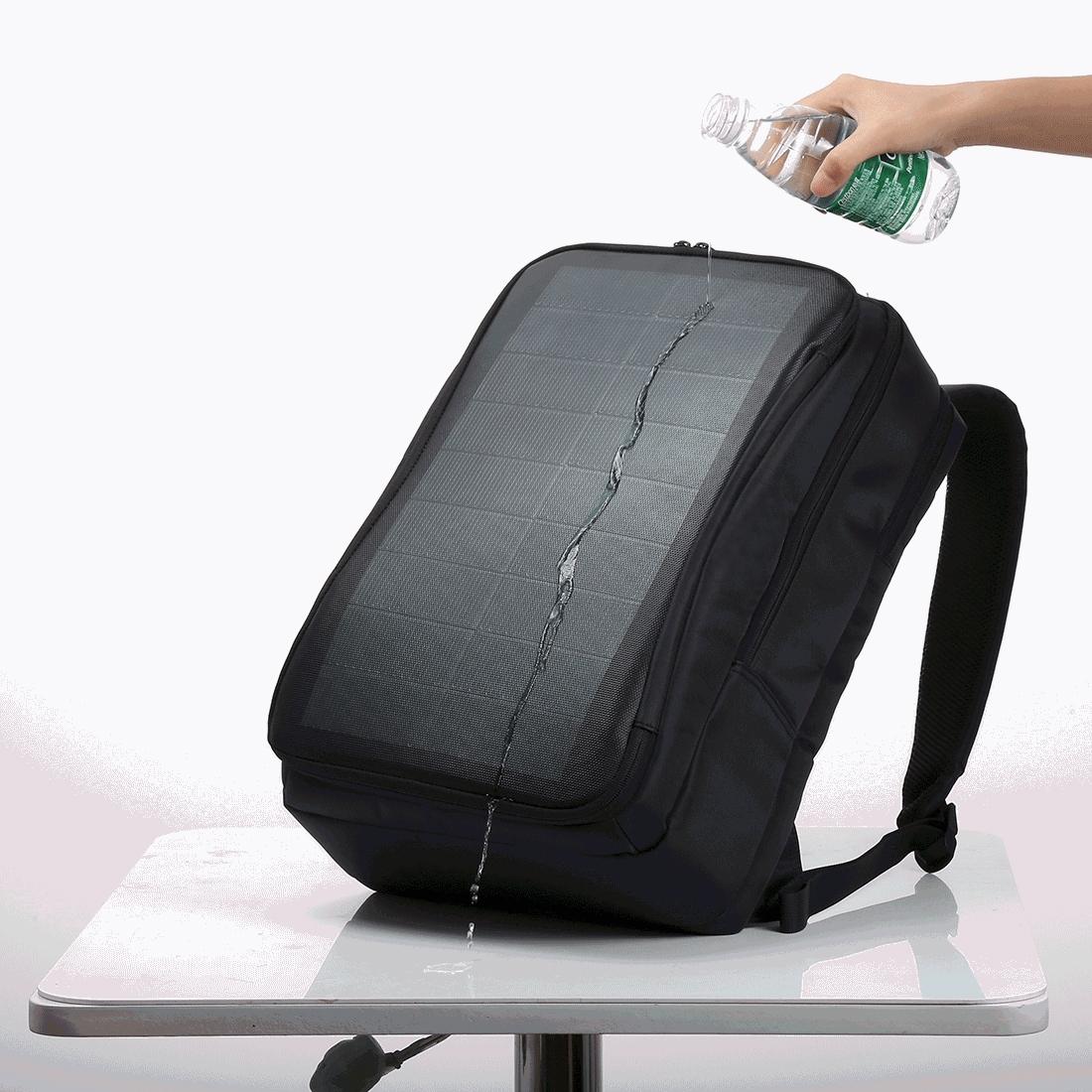 【防災やちょっとした旅行に】USBスマホ充電機能付きソーラーパネル付きリュック