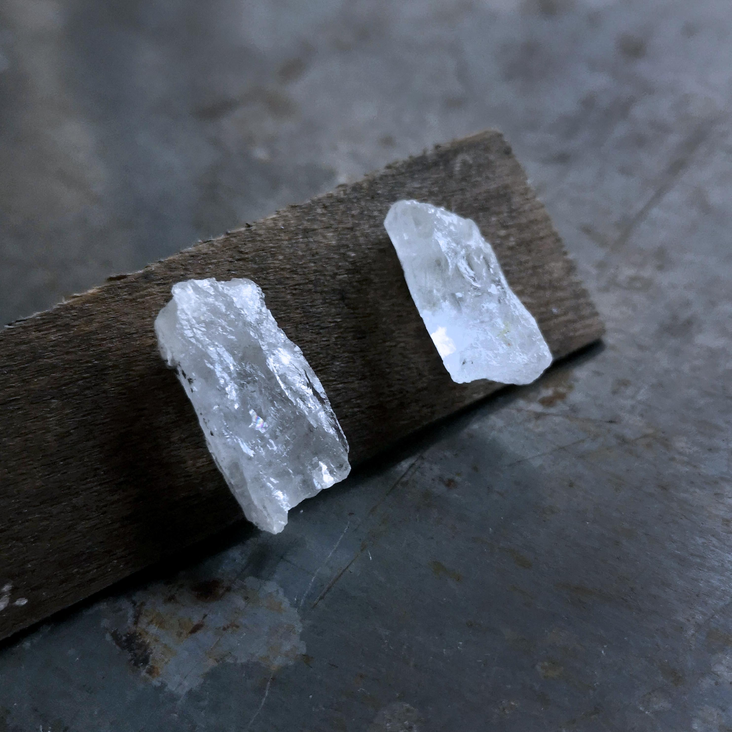 山梨県塩山の水晶の耳飾りⅡ