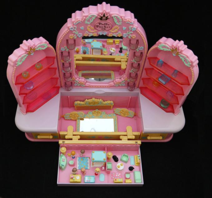 激レア!超可愛い!ポーリーポケット ドレッシングテーブル 1990年 箱付き完品