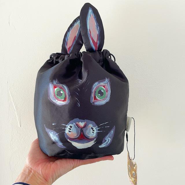 Nathalie Lete Drawstring bag REGLISSE ナタリーレテ 巾着バッグ