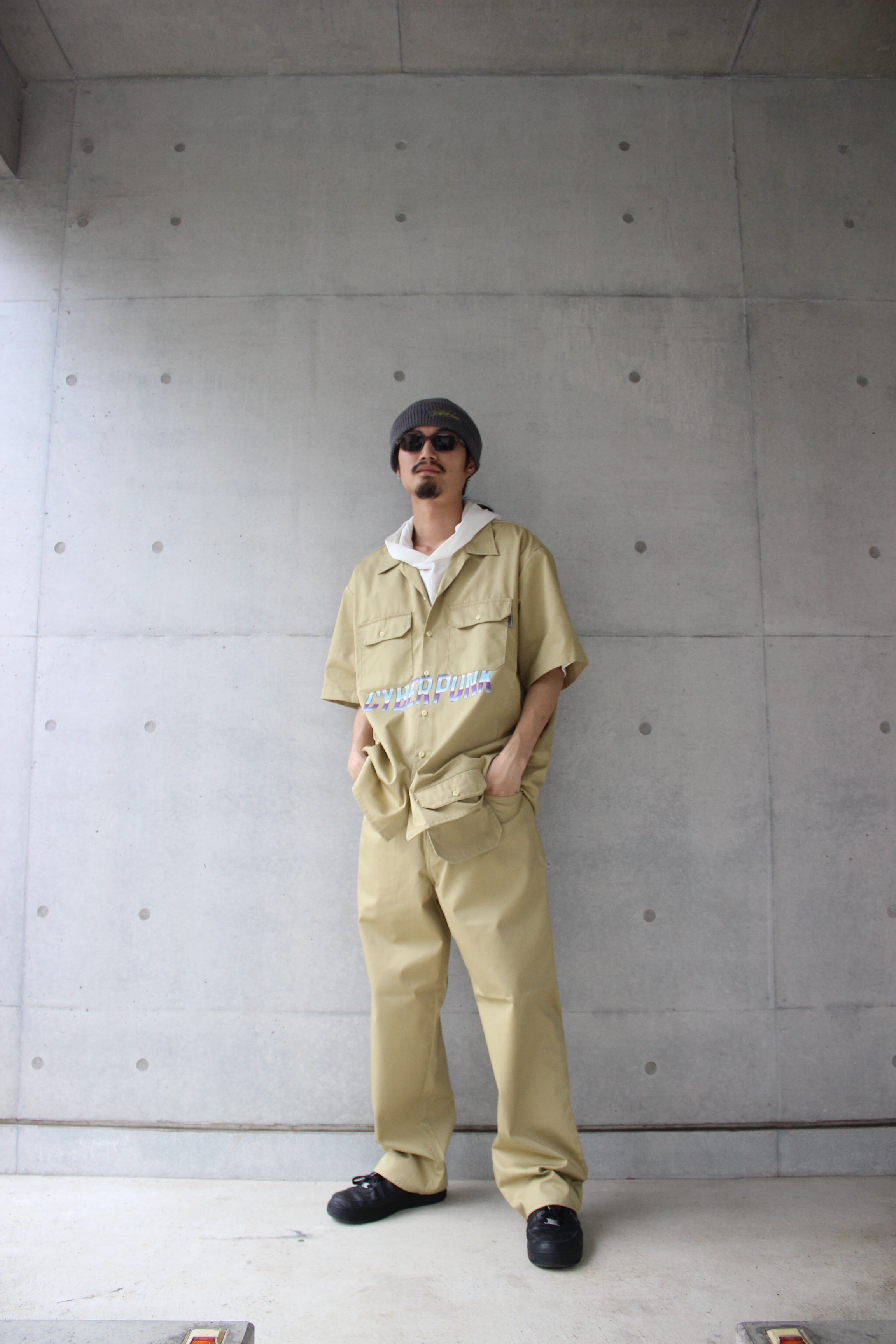 CYBER PUNK work shirt / BEIGE - 画像4