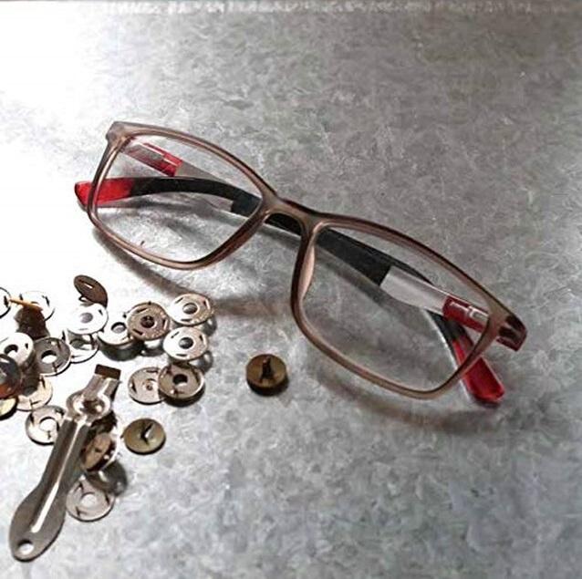 ★24時間限定30%OFF★【ラス1になりました】サロンワーク用 手元グラス(老眼鏡) スモークレッドトリコロール