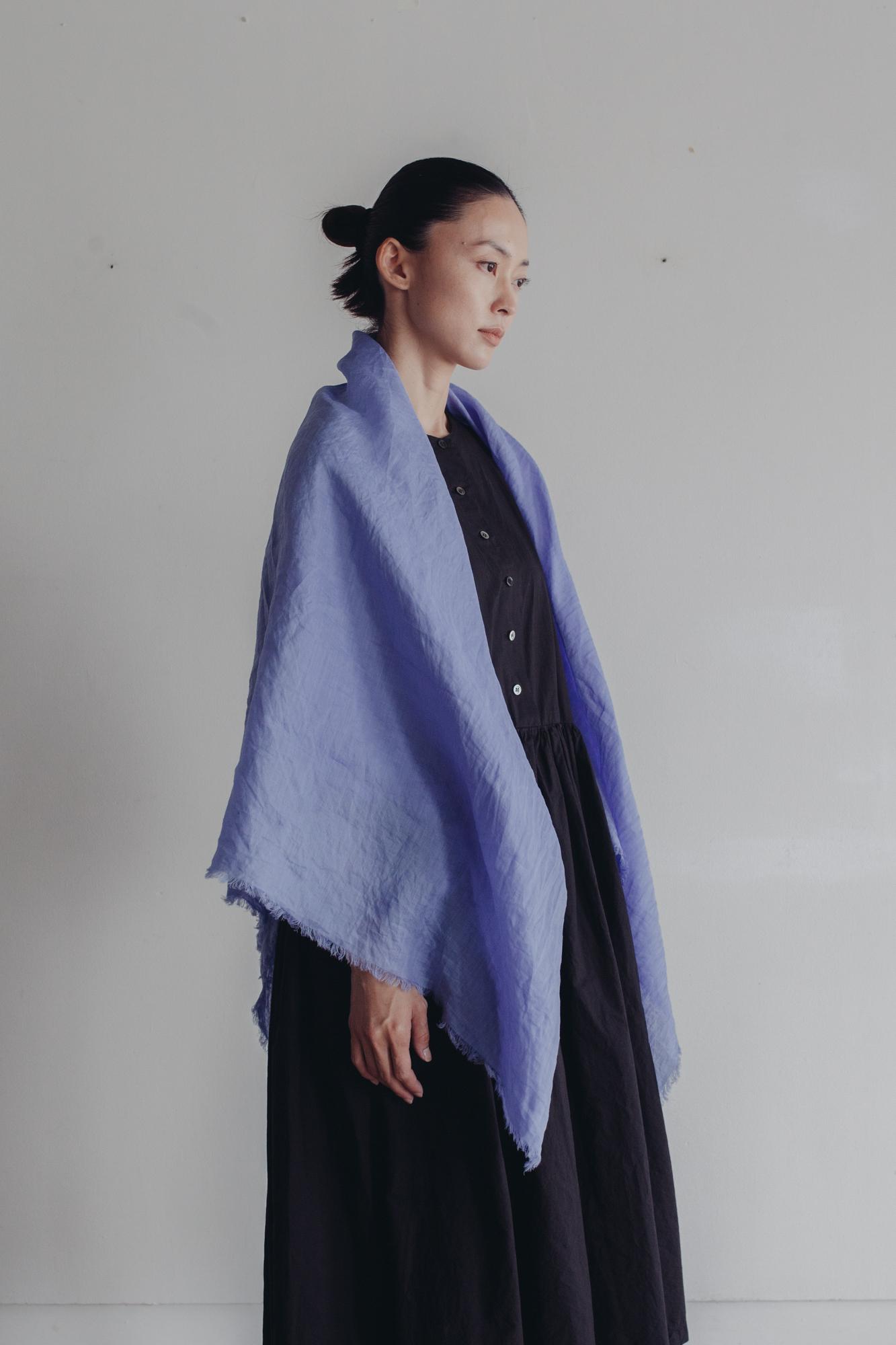 0158-2 120 ramie stole / sky blue