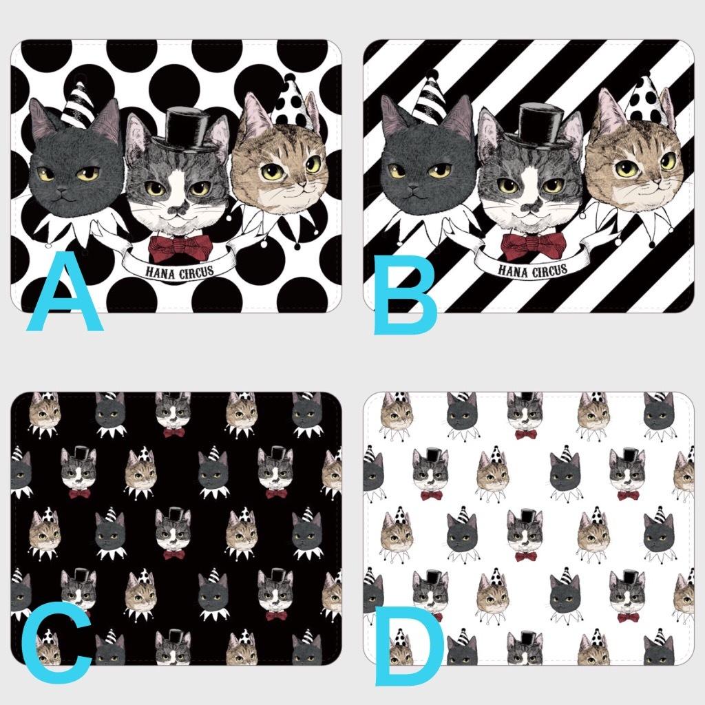 6f894493e1b2 【送料無料】HANA circus original android Lサイズ ベルトなし(帯なし) 手帳型 スマホケース 猫 はちわれ キジトラ 黒猫 【受注生産:納期7‐10日】