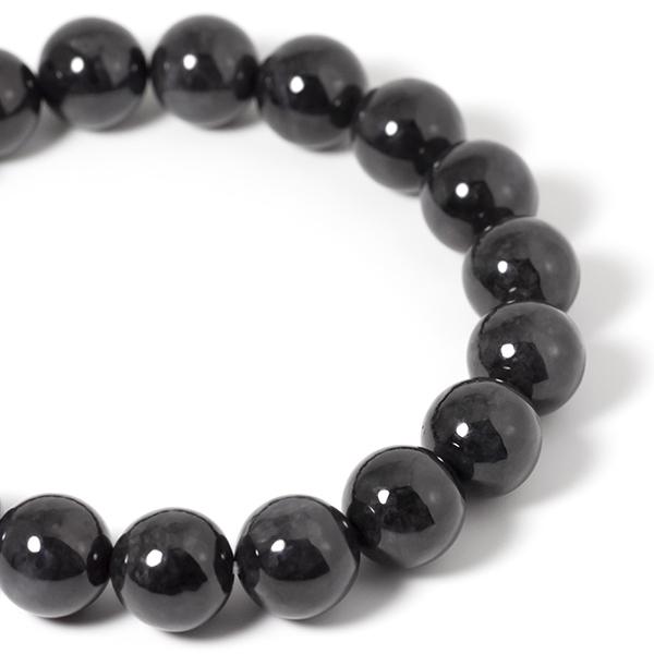 黒翡翠(ブラック・ジェダイト) 10mm パワーストーンブレスレット