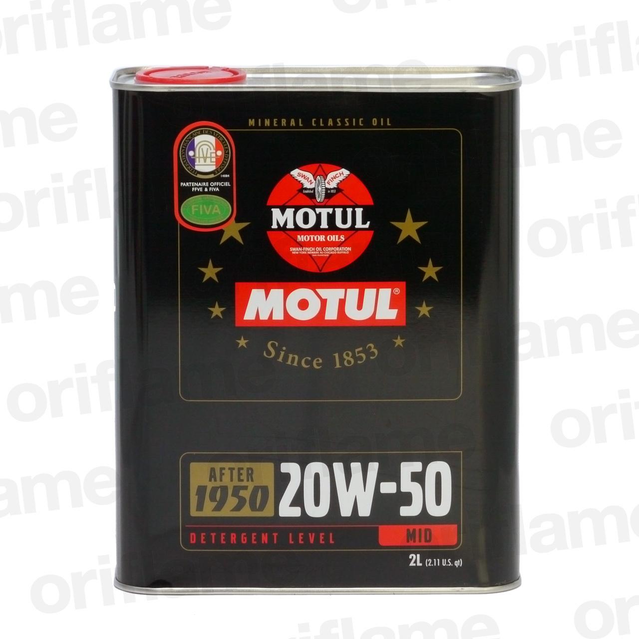 MOTUL・クラシック・オイル 20W-50 2L 鉱物油