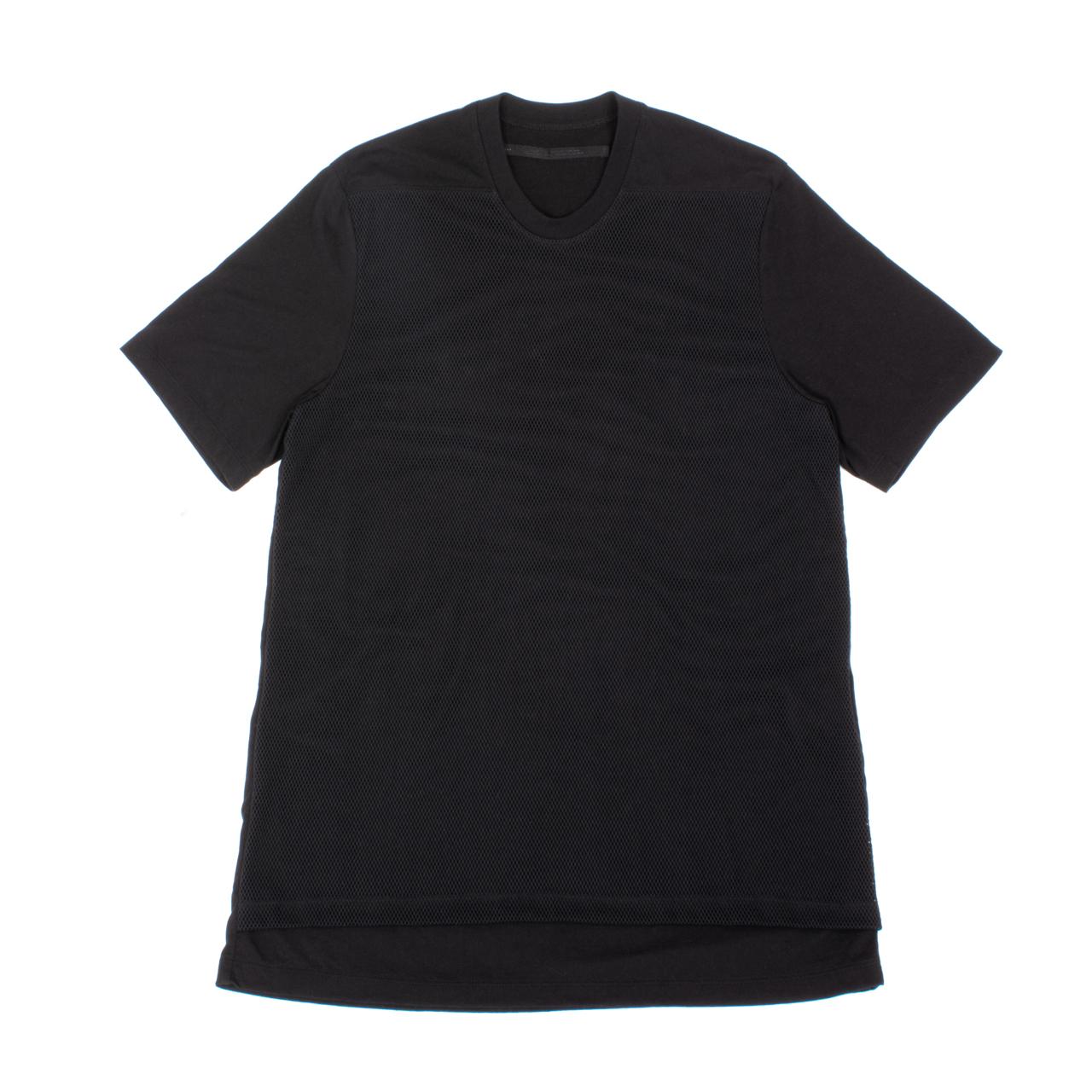 707CUM8-BLACK / フロントメッシュレイヤードTシャツ