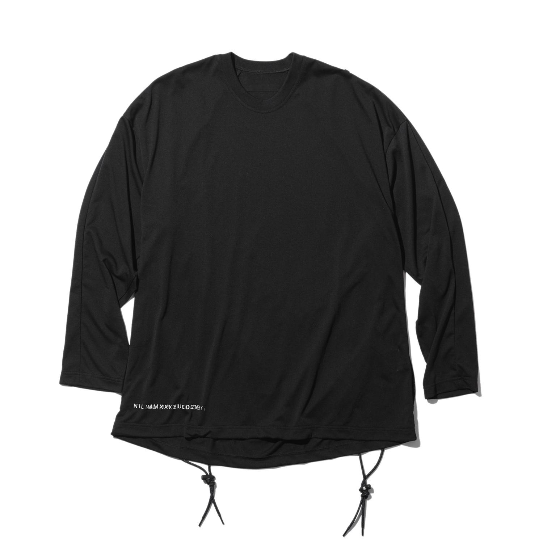 740CUM3-BLACK / ロングスリーブ コード Tシャツ