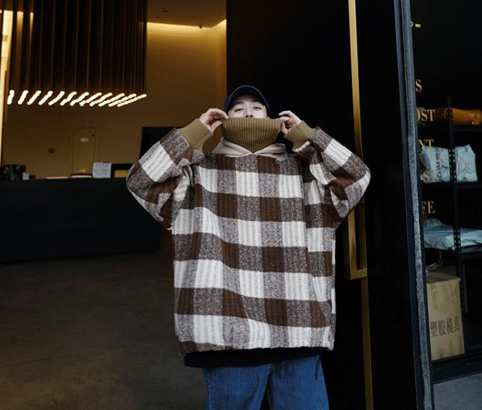 ビッグシルエットチェックセーター