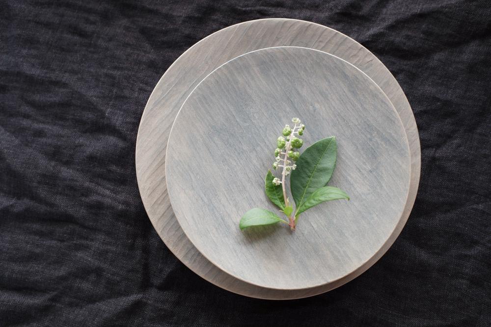 湯浅ロベルト淳 漆の丸皿 白 17cm