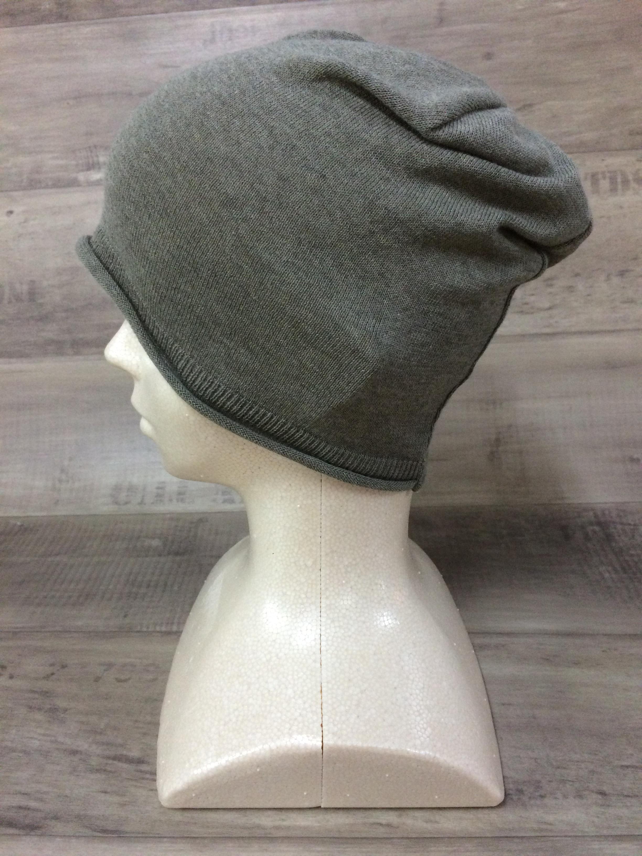【送料無料】こころが軽くなるニット帽子amuamu|新潟の老舗ニットメーカーが考案した抗がん治療中の脱毛ストレスを軽減する機能性と豊富なデザイン NB-6058|玉露 <オーガニックコットン アウター>