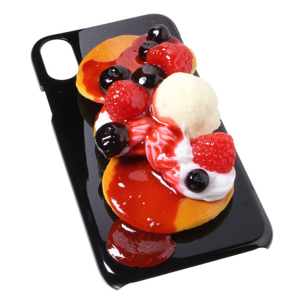 [8000]食品サンプル屋さんのスマホケース(iPhone XS、XS Max、XR:ベリーパンケーキ)【メール便不可】