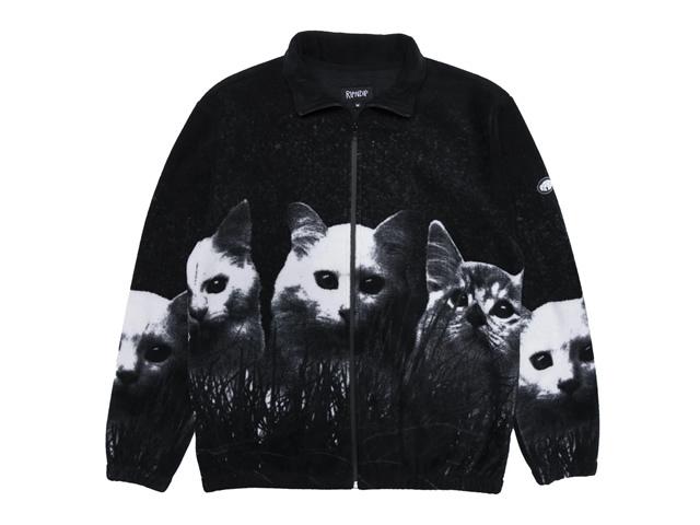 RIPNDIP|Field Of Cats Sherpa Jacket (Black)