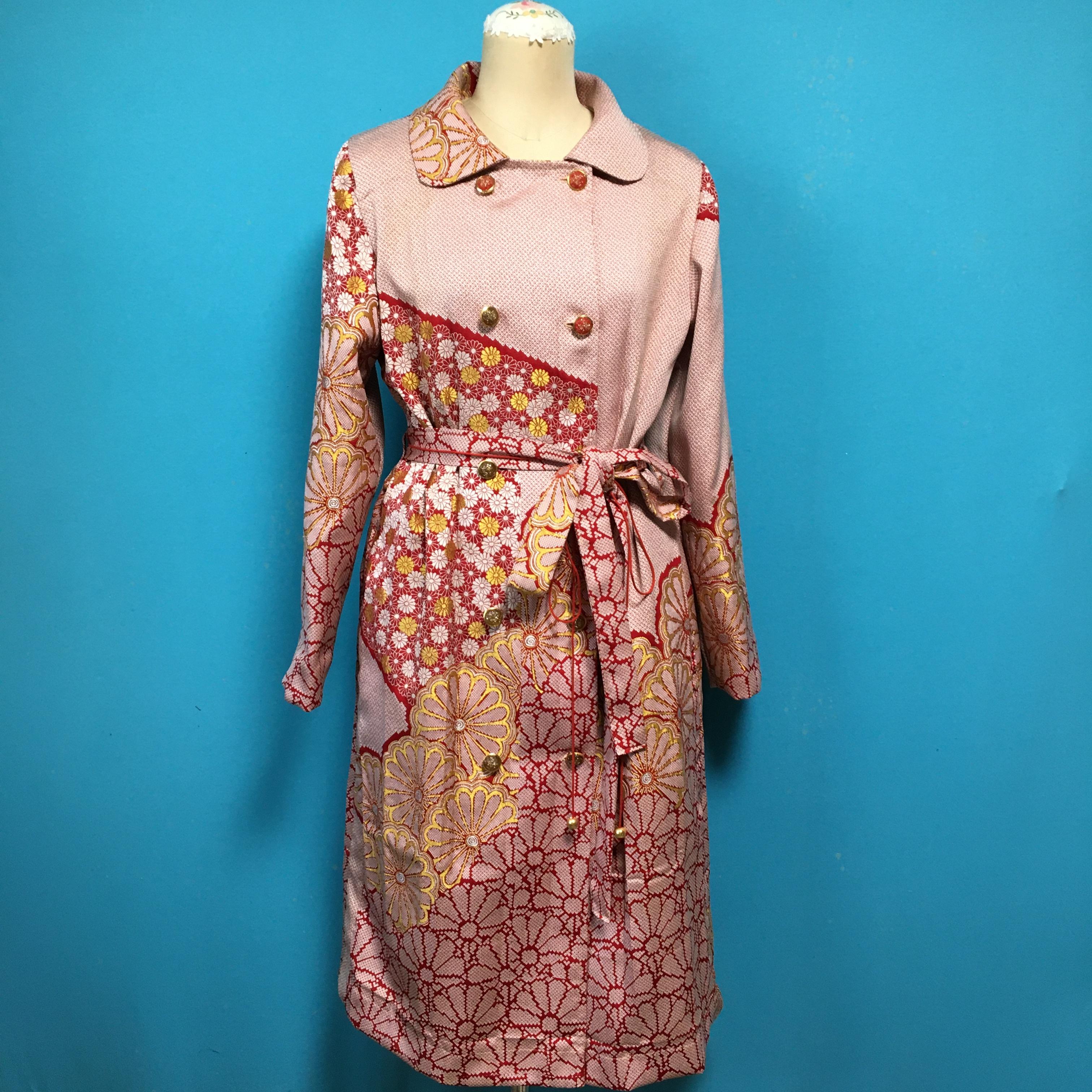 Vintage 着物のライトコート