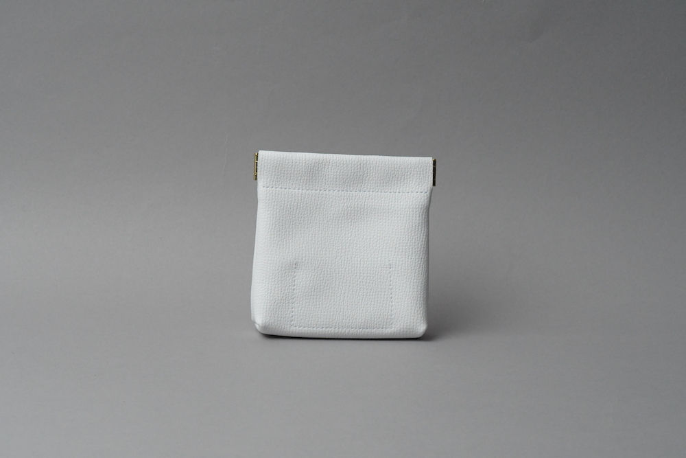 送料無料・ギフトラッピング(ギフト箱)無料○ ワンタッチ・コインケース ■ホワイト・レモン■ - 画像2
