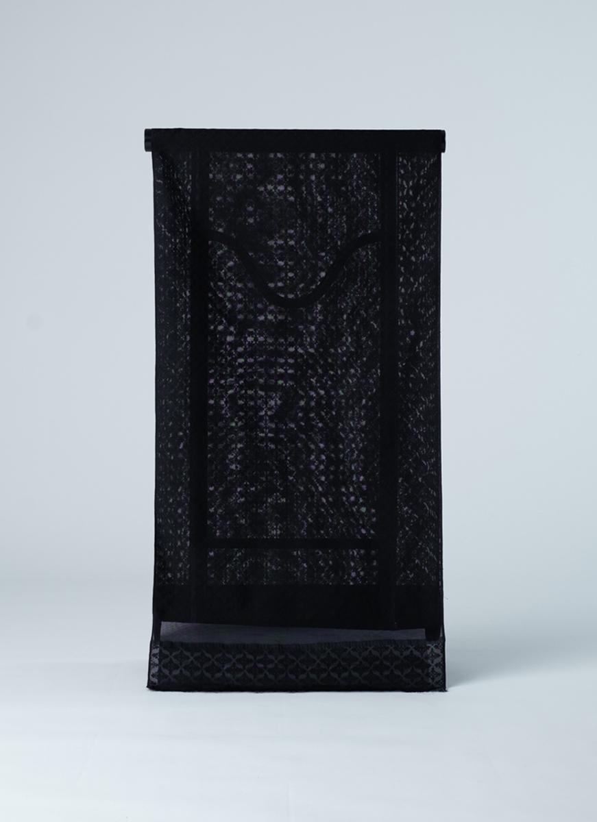 幾何学模様の紋紗反物 正絹製