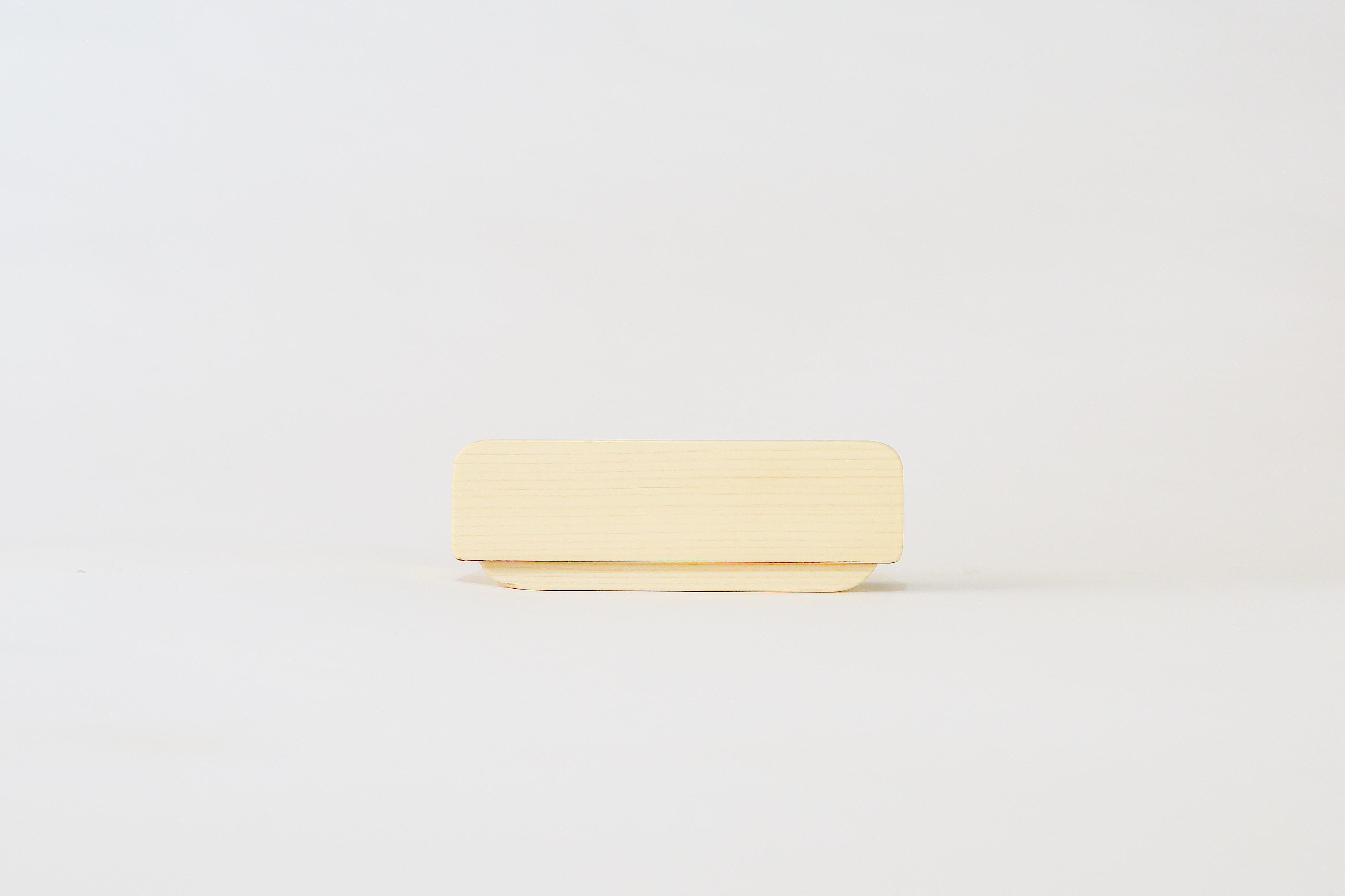 かぶせ弁当箱 ひのき白木仕上げ(中)