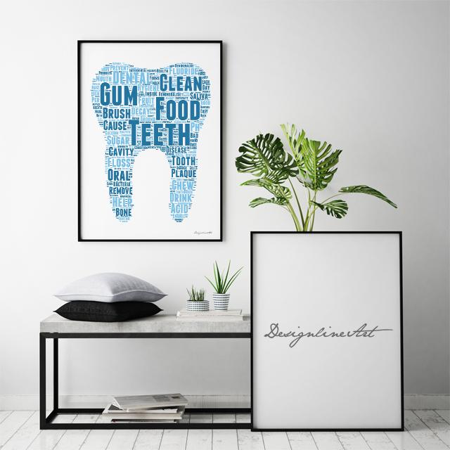 Typography B2ポスター(フレーム入り)