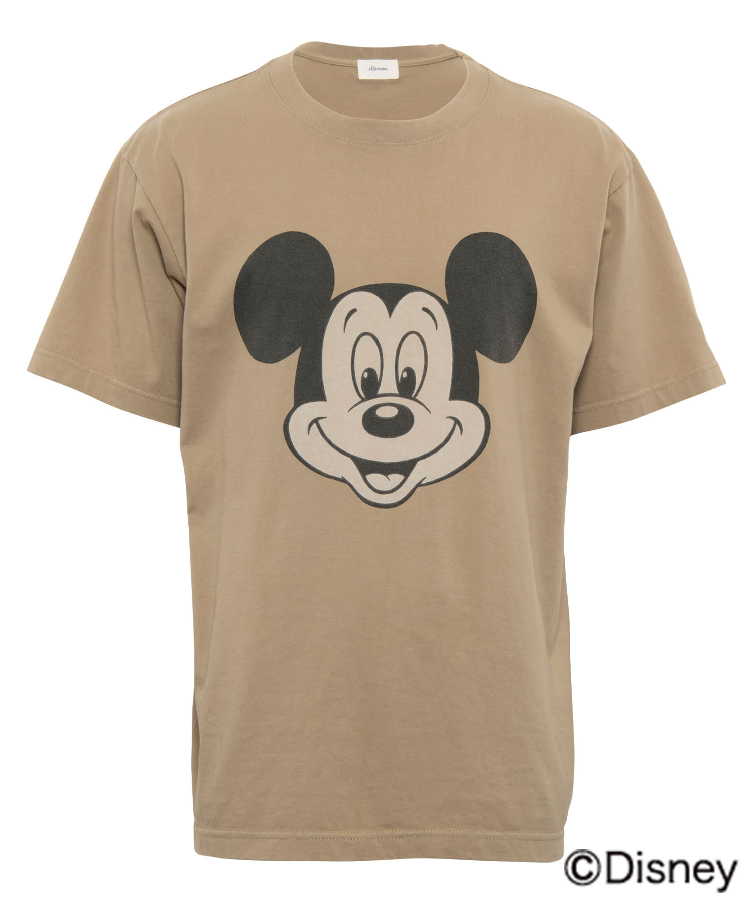 VINTAGE BIG FACE PRINT T-shirt - MICKEY MOUSE[REC409]