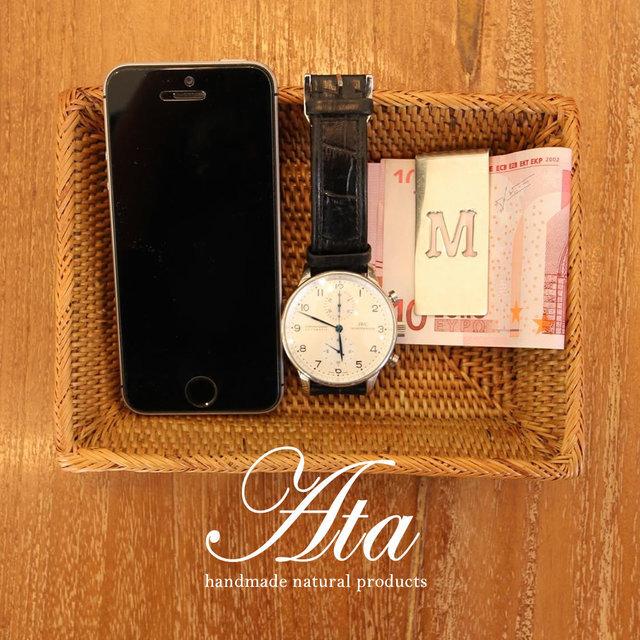 アタ製 鍵や時計などの小物入れに便利な フチ付きミニトレイSQ A37 (小物入れ、お菓子入れ)