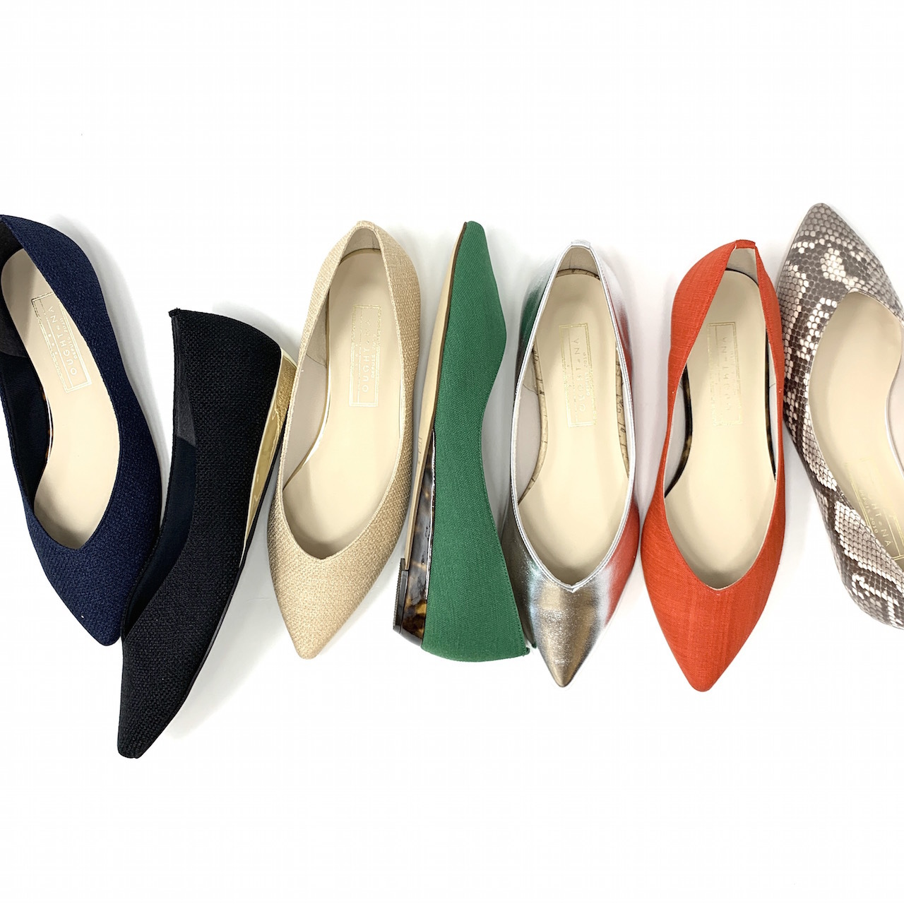 Pointed Linenflat Pumps | ポインテッド リネン フラットパンプス #ot1120 |【Ought=na】|madeinjapan|日本製