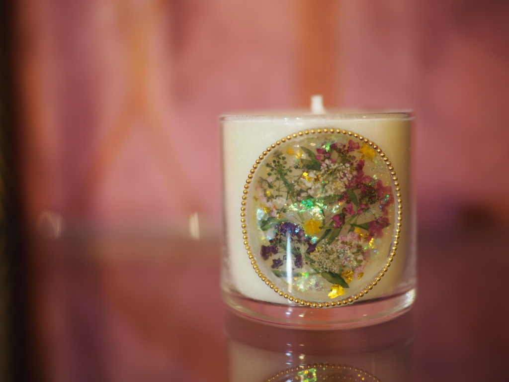 Pressed Flowers Candle  7
