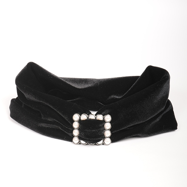 Joe18AW-30 buckle turban -velor