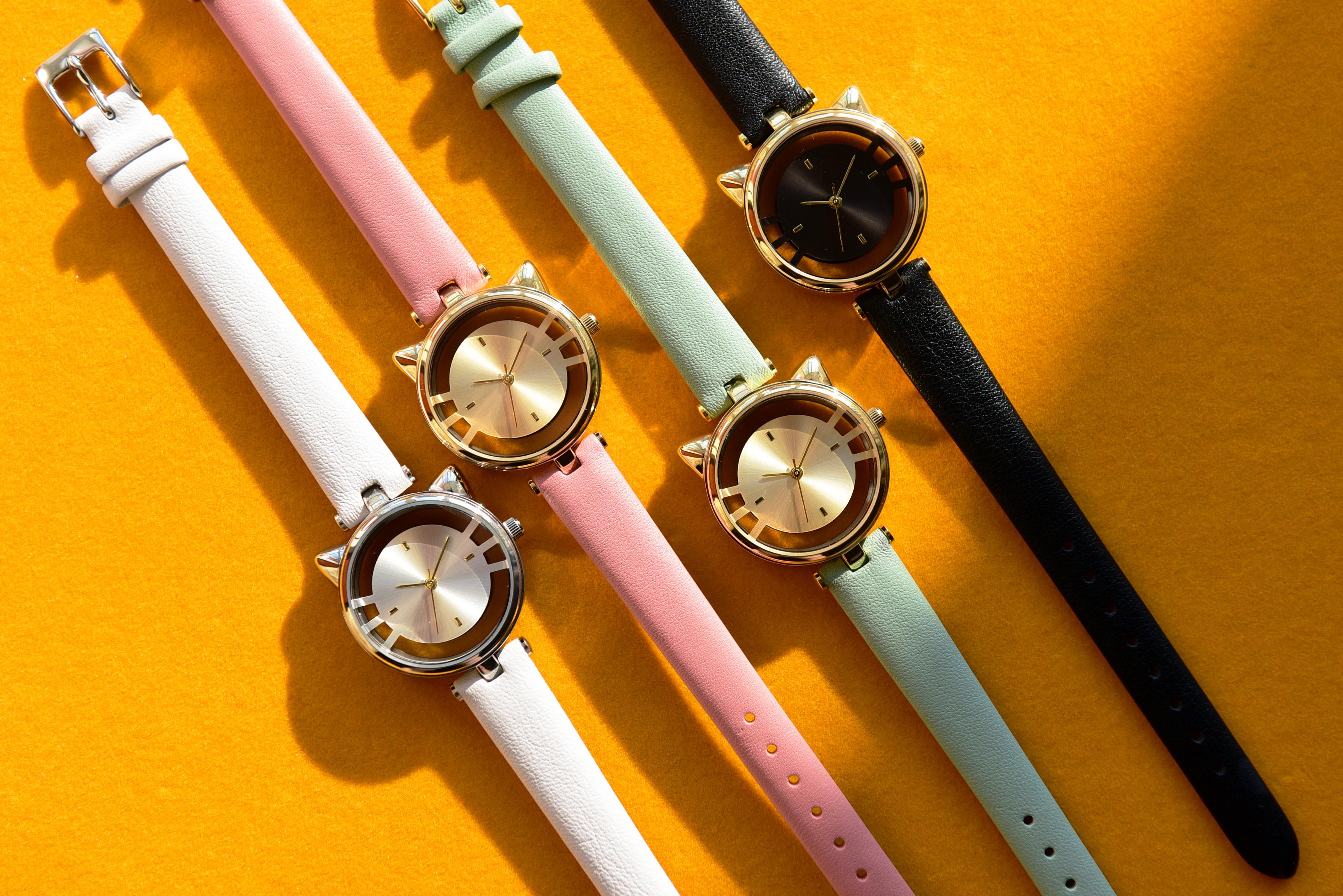 腕時計GRANDEUR ESL081 猫型ウォッチ スケルトンウォッチ レディースウォッチ
