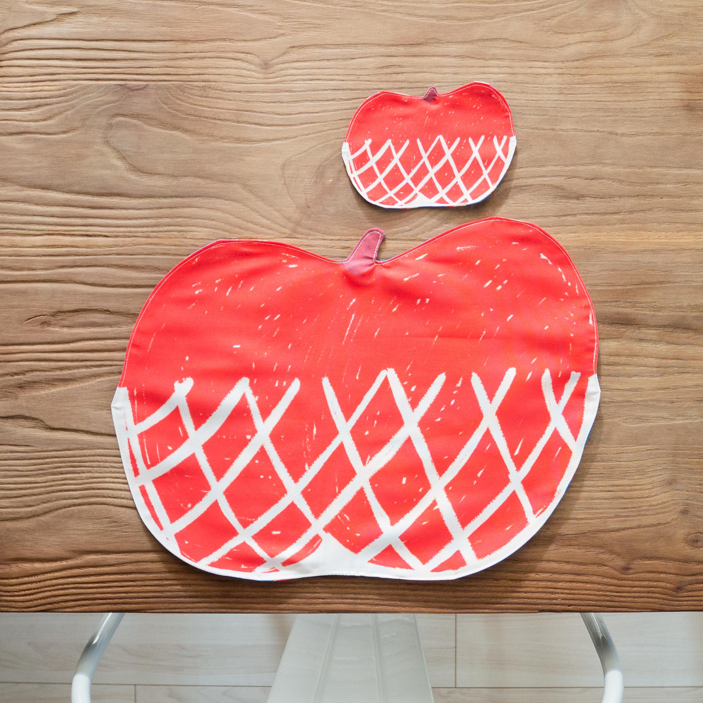 ランチョンマット ネット入りリンゴ