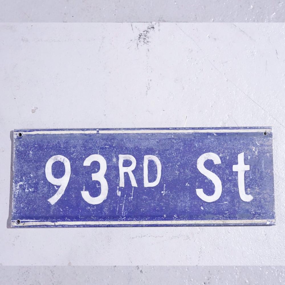 93RD st アメリカンロードサイン 道路標識