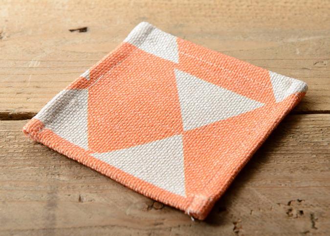 コースター オレンジダイヤモンド 4枚セット