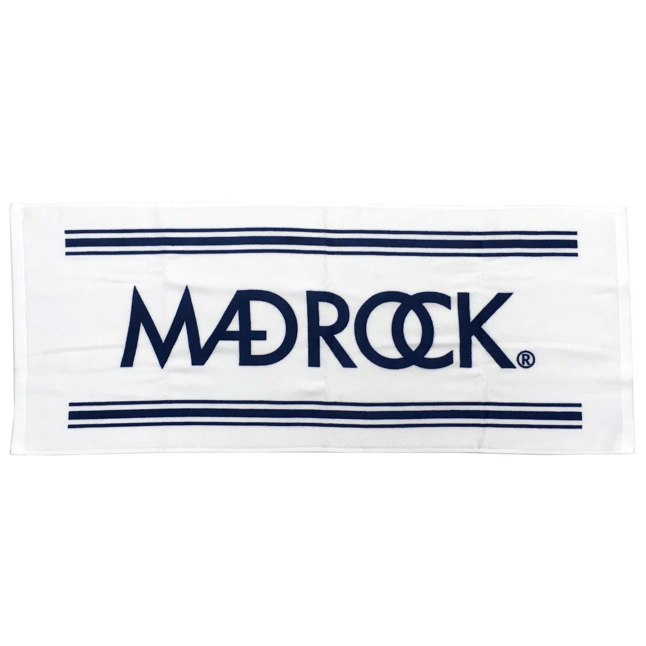 マッドロック ロゴ タオル ホワイト&ネイビー / MADROCK  LOGO Towel / White&Navy