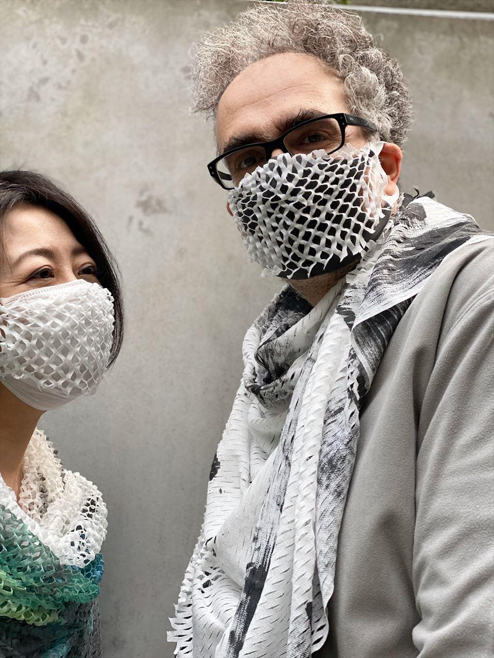 マスク付き+WWD掲載 マスク カバー[着るスカーフ]MASK+MASK COVER CORNICE[税込/送料別]