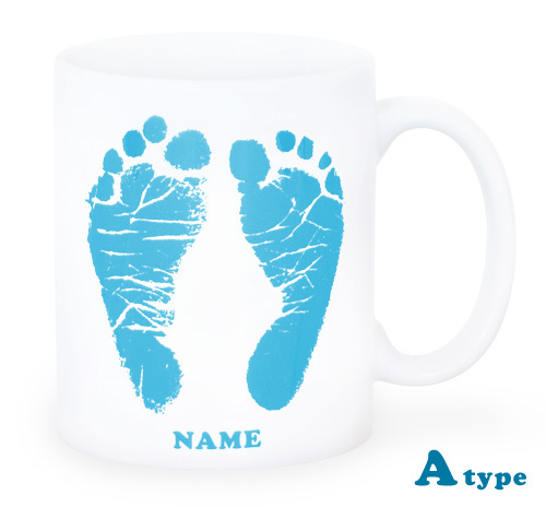 ai mug-white   A-type (LIGHT BLUE) QRコード付き