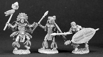 人食い部族の祈祷師と衛兵たち(3体) - 画像2